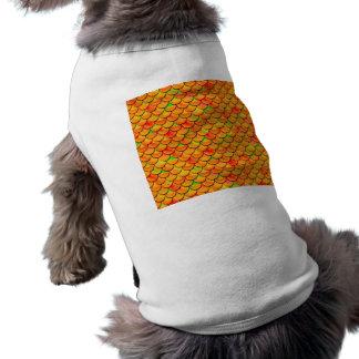 T-shirt Échelles oranges et vertes de Falln