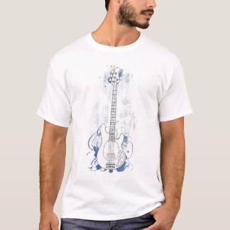 T-shirt Éclaboussure bleue d'arrière - plan propre bas