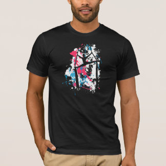T-shirt Éclaboussure de fentes