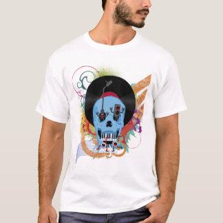 T-shirt Éclaboussure grunge de musique de crâne
