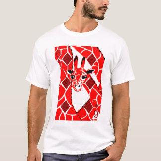 T-shirt EclecDeck 6 des girafes de diamants - blanc