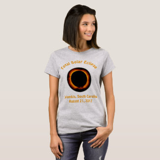 T-shirt Éclipse solaire totale (Cloumbia, Caroline du Sud)