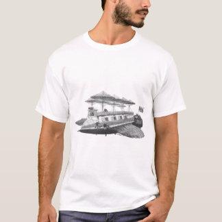 T-shirt Éclipse vintage de dirigeable de Steampunk de la