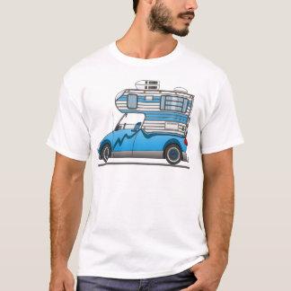 T-shirt Eco prennent le bleu de campeur