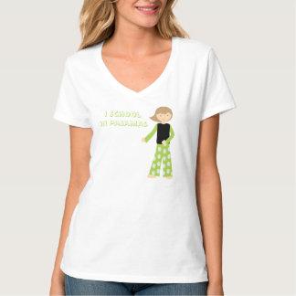 T-shirt École dans des pyjamas - pièce en t