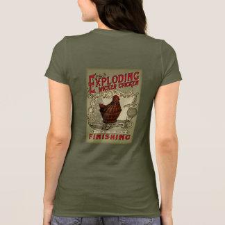 T-shirt École de explosion de finissage de poulet de