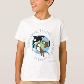 T-shirt École maternelle de cage d'île de bateau à vapeur