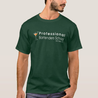 T-shirt École professionnelle tenante le bar de barmans de