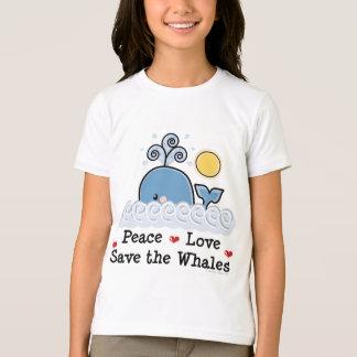 T-shirt Économies d'amour de paix la pièce en t de