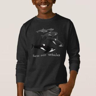T-shirt Économies de chemise de baleine de l'orque de
