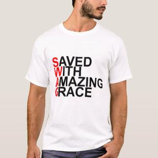 T-shirt Économisé avec la grâce extraordinaire (SWAG)