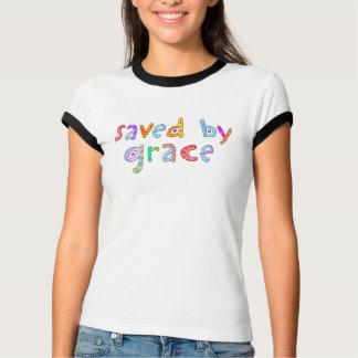 T-shirt Économisé par amusement de grâce et chrétien
