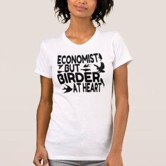 T-shirt Économiste d'amant d'oiseau