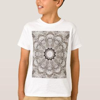 T-shirt Écorce d'arbre de kaléidoscope de Brown