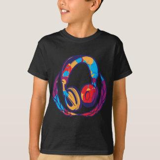 T-shirt Écouteurs colorés