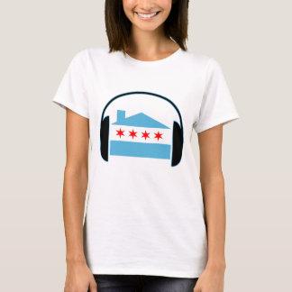 T-shirt Écouteurs de drapeau de Chambre de Chicago