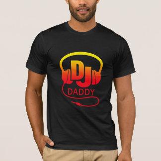 T-shirt Écouteurs rouges du DJ de jaune de papa