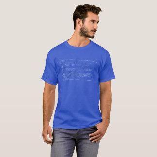 T-shirt Écran bleu