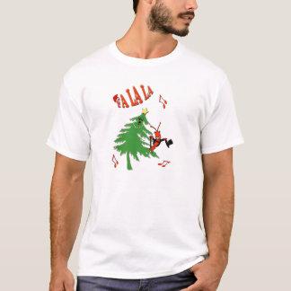 T-shirt Écrevisses/homard d'arbre de Noël de danse de La