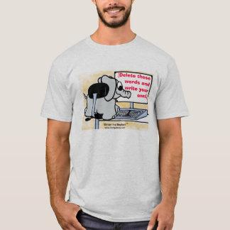 T-shirt Écrivez votre propre message sur la chemise