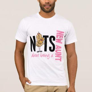 T-shirt Écrous au sujet d'être une nouvelle tante 1 rose