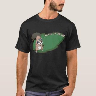 T-shirt écureuil du village caché dans le feuille