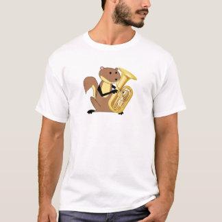 T-shirt Écureuil jouant le tuba