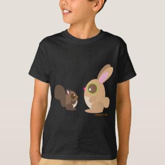 T-shirt écureuil+lapin