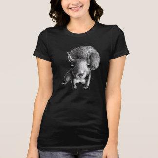 T-shirt Écureuil mignon curieux