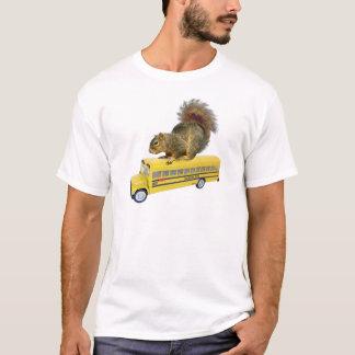 T-shirt Écureuil sur l'autobus scolaire