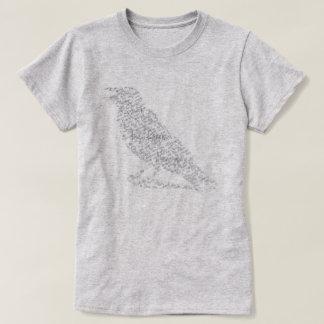 T-shirt Edgar Allan Poe la chemise de typographie de dames