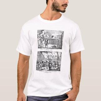 T-shirt Edouard Lowe et ses compagnons mettant le feu