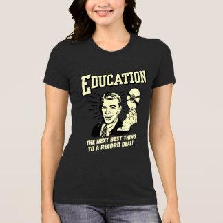 T-shirt Éducation : La meilleure affaire de disque de