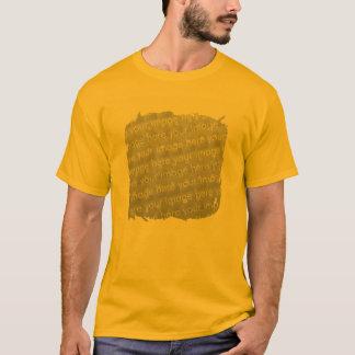T-shirt Effet de conception de frontière de frange