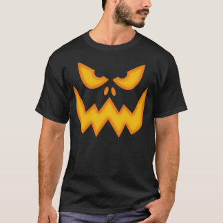 T-shirt effrayant de visage de citrouille