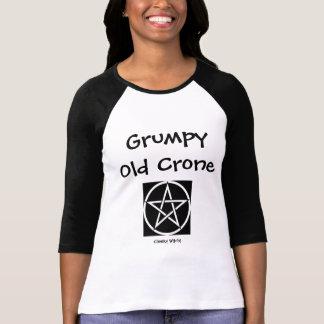 T-shirt effronté de sorcière de vieille vieille