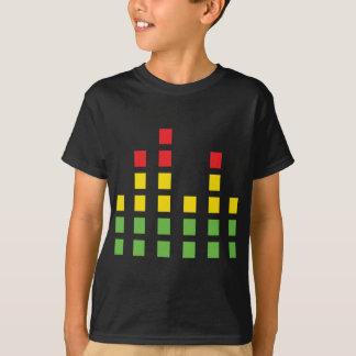 T-shirt égaliseur audio sain du DJ