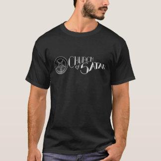 T-shirt Église Noir de pièce en t de noir de logo de Satan