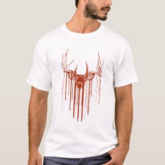 T-shirt Égouttement de cerfs communs de pochoir