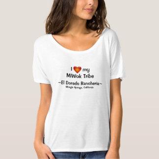 T-shirt EL Dorado Rancheria de tribu de Miwok de coeur
