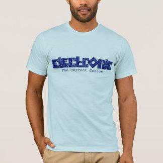 T-shirt électronique de génie de style de carte