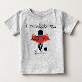 T-shirt élégant du Jersey de bébé de langue
