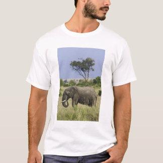 T-shirt Éléphant africain frôlant, africana de Loxodonta,