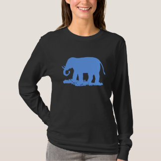T-shirt Éléphant bleu