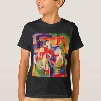 T-shirt Éléphant, cheval, bétail, hiver par Franz Marc