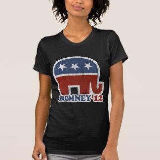 T-shirt Éléphant de républicain de Mitt Romney 2012 (cru)