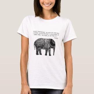 T-shirt Éléphant de sagesse de henné de Bouddha