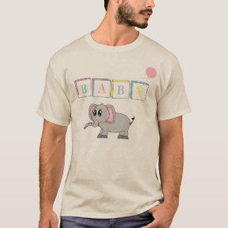 T-shirt Éléphant mignon de bébé adulte d'ab