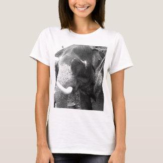 T-shirt Éléphant noir et blanc