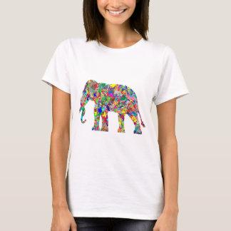 T-shirt Éléphant psychédélique